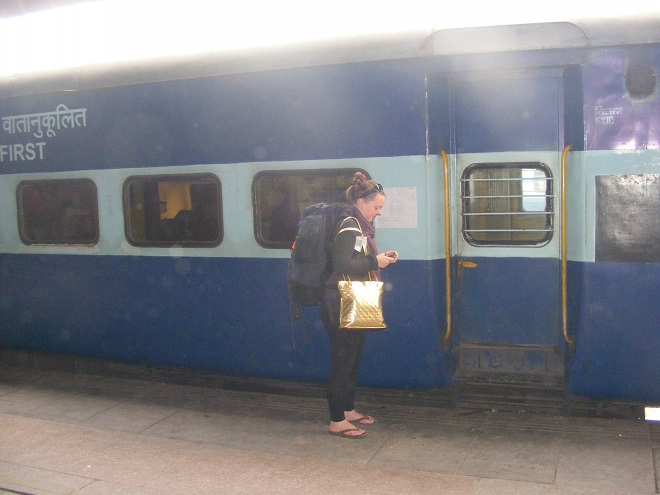 Travelling by train in India
