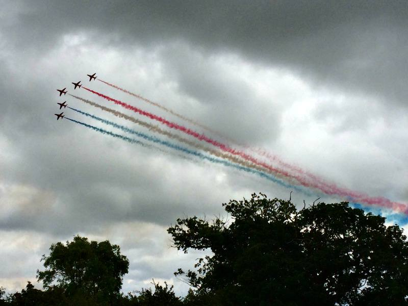 British Grand Prix Red Arrows display