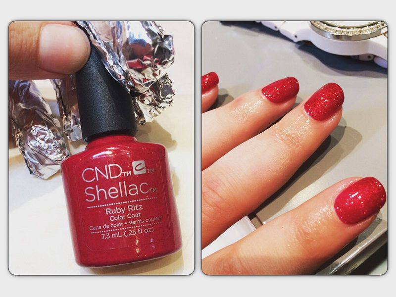 Christmas Nails CND Shellac Polish